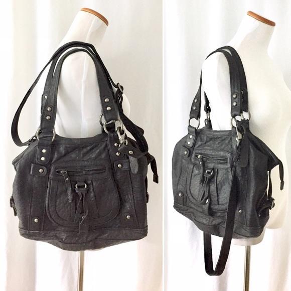 Genuine Leather Top Shop UK Black Handbag ❤️